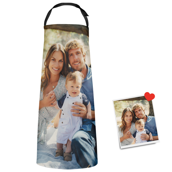 Custom Kitchen Apron With Photo Father's Day Gifts - Love Dad Love Family