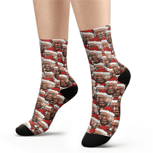 Custom Face Mash Socks Santa hat