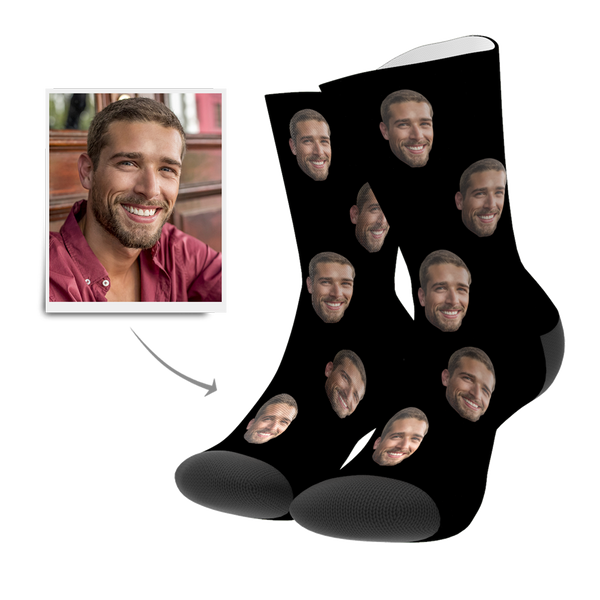 Custom Face Socks Colorful 3D Preview