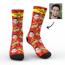 Custom Super Dad Socks With Your Text - MyFaceSocks