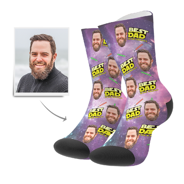 Custom Socks - Best Dad In The Galaxy