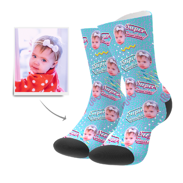 Custom Socks - Super Daughter Retro