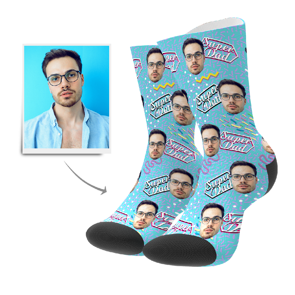 Custom Socks - Super Dad Retro