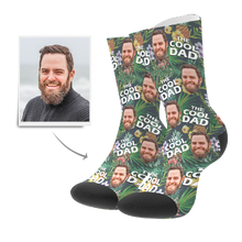 Custom Cool Dad Tropical Socks With Your Text - MyFaceSocks