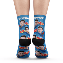 Custom Superhero Dad Socks With Your Text - MyFaceSocks