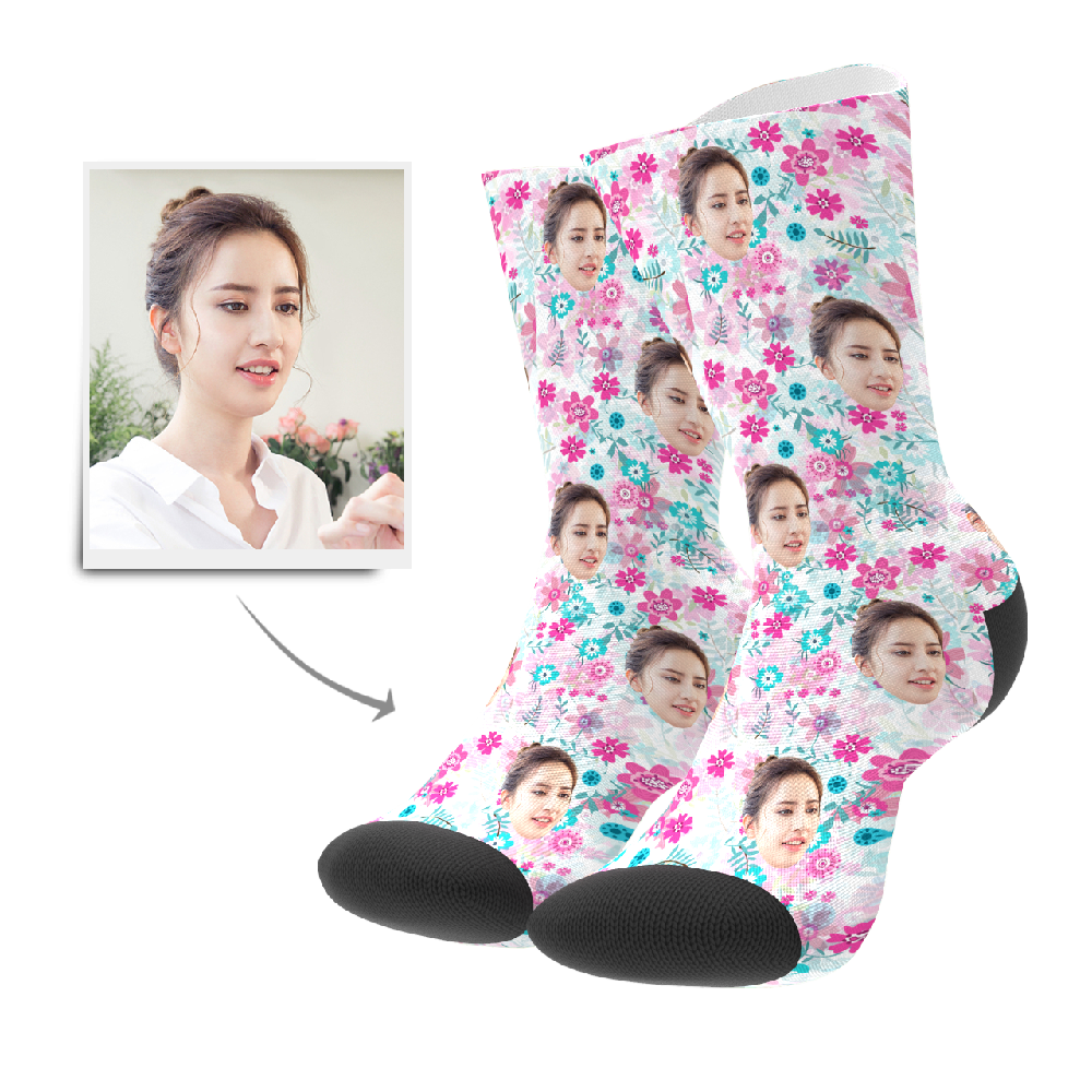 Custom Socks - Floral