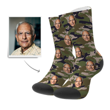 Custom Socks 3D Preview - Camo (Green)