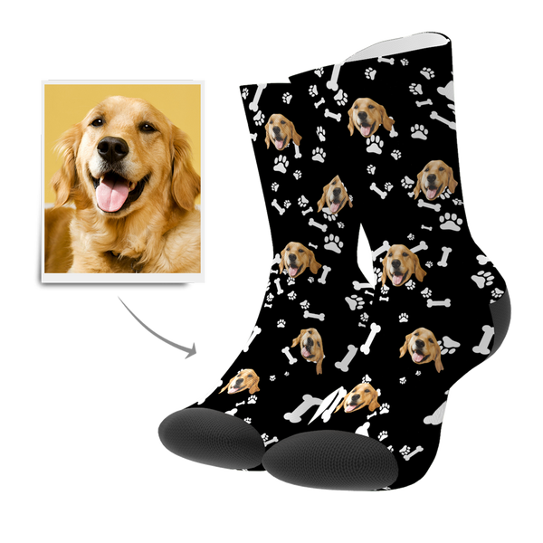 Custom Dog Socks 3D Preview