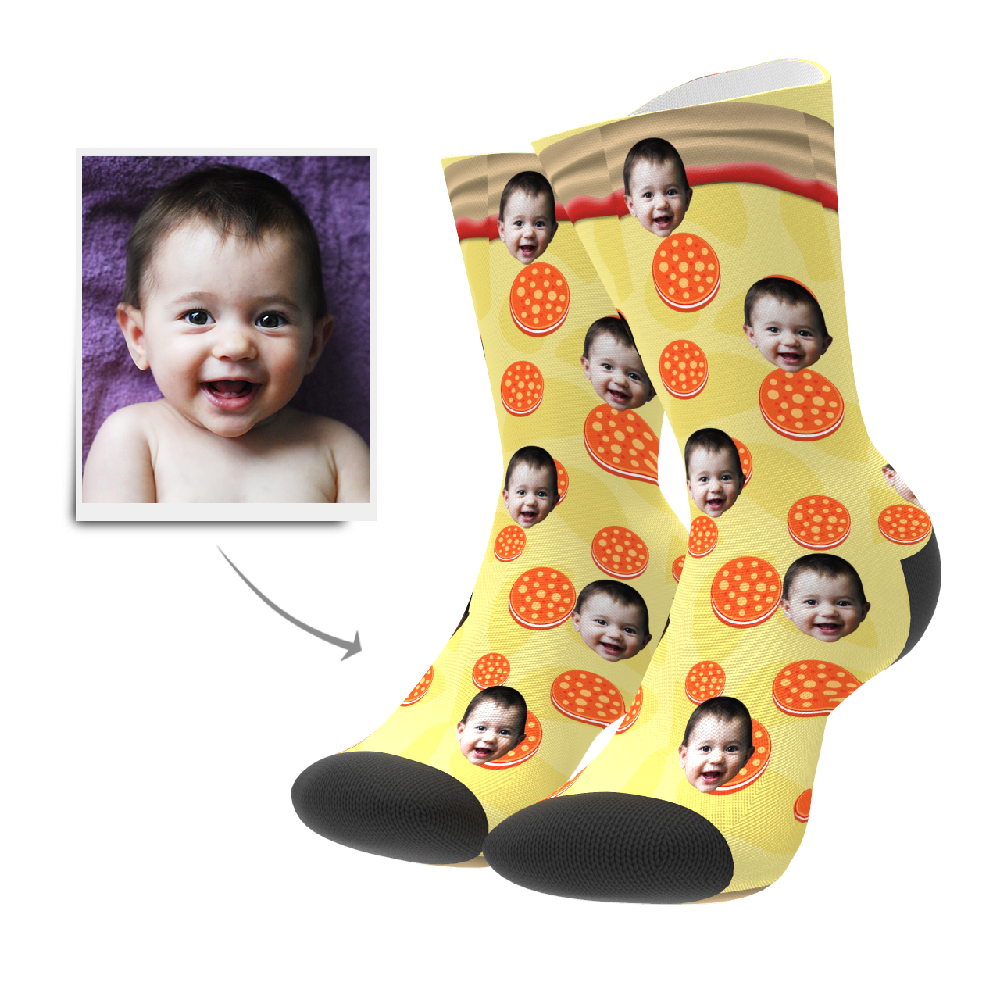 Custom Socks - Pizza