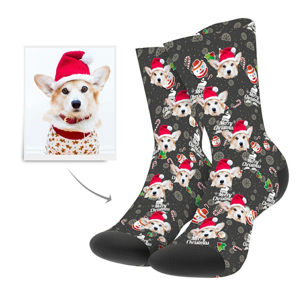 Christmas Custom Snowman Hero Socks - Myfacesocks