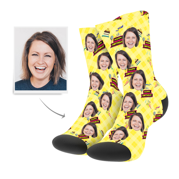 Custom Socks - Happy Birthday
