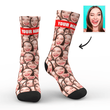 Custom Face Mash Socks With Your Text - MyfaceSocks