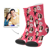 Custom Wedding Anniversary Socks With Your Text - MyFaceSocks