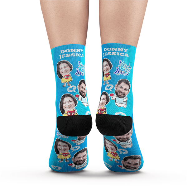 Custom Valentine's Day Socks With Your Text - MyFaceSocks
