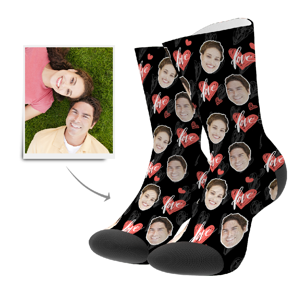 Custom Socks - Heartbeat