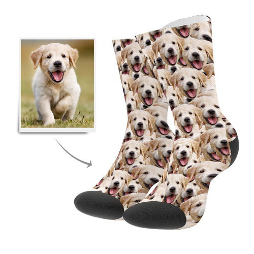 Custom Socks - Face Mash Dog