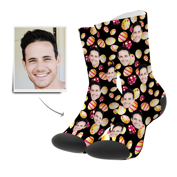Custom Face Socks-Easter Egg