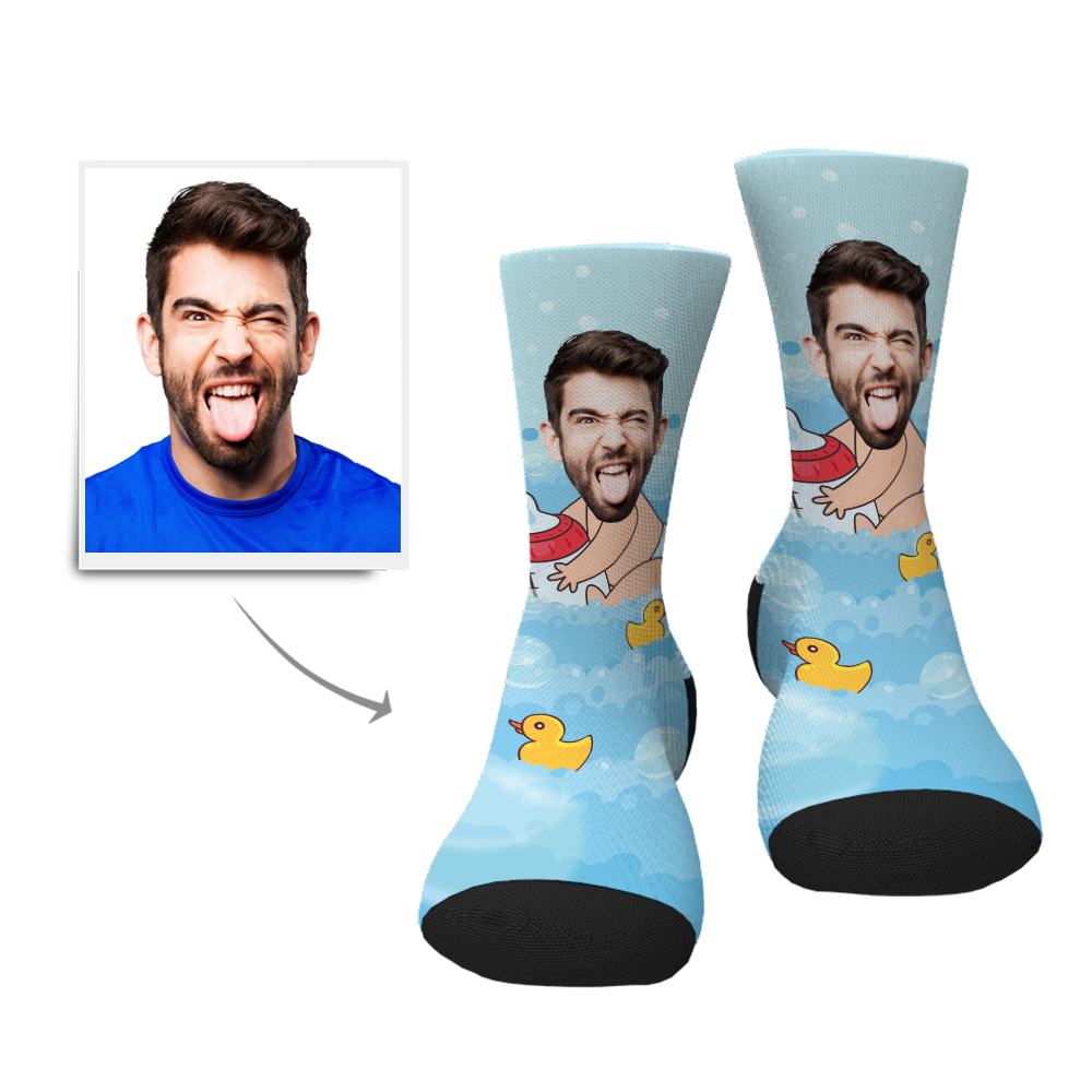 Custom Socks-Baby Face