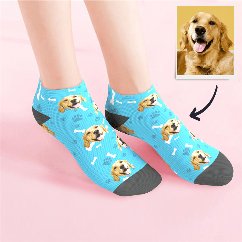 Custom Low cut Ankle Socks Dog - MyPhotoSocks
