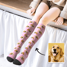 Custom Photo Knee High Socks Pet Dog