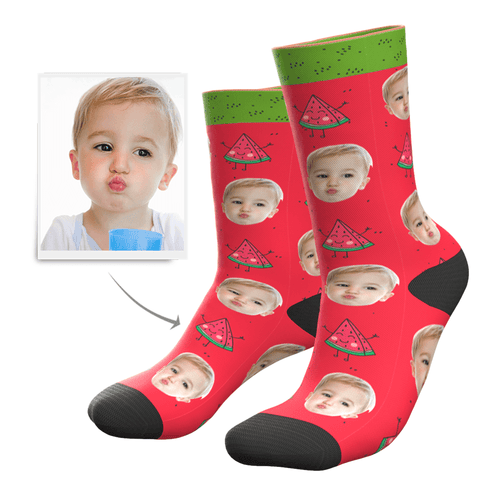 Custom Face Socks Hot Summer Watermelon