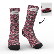 Custom Face Socks Car Mash With Your Saying