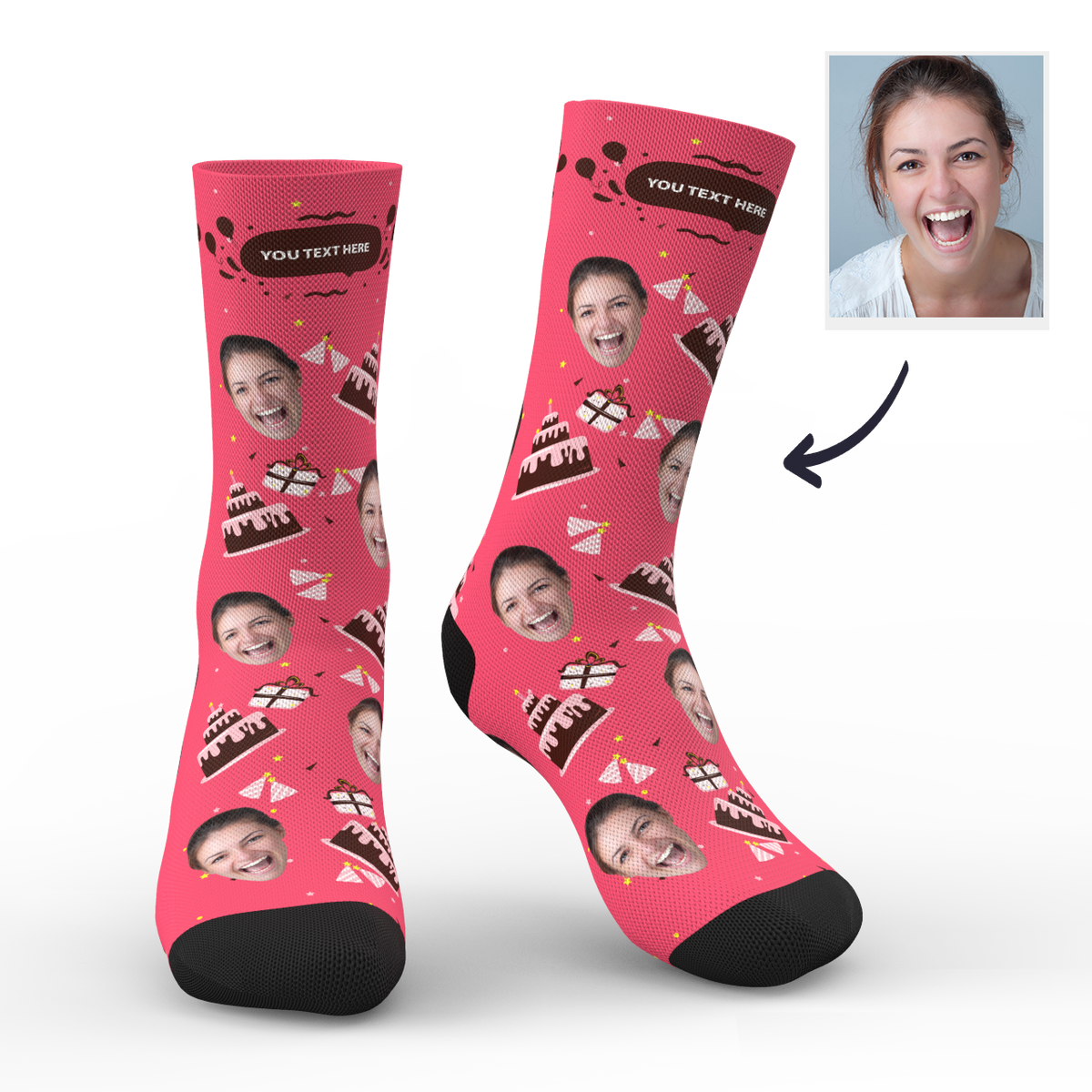 Custom Face Socks Birthday Gift Add Pictures And Name