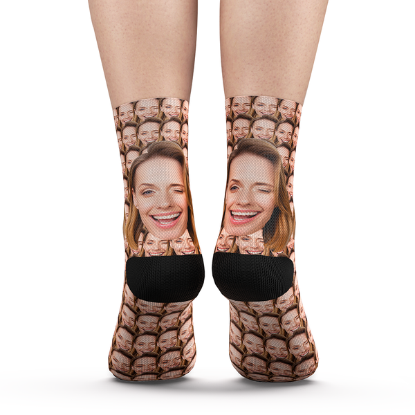 Custom Your Face Mash Socks With Your Saying