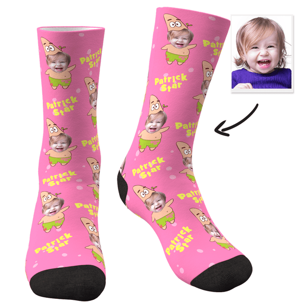 Custom Face Socks Spongebob And Patrick Set