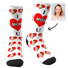 Custom Photo Socks Love Mom - MyFaceSocks