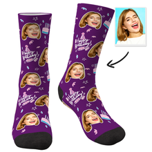 Custom Photo Socks Happy Birthday - MyFaceSocks
