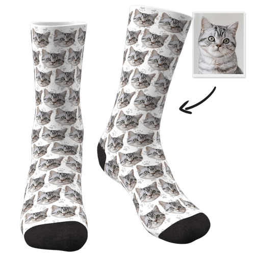 Custom Photo Socks Cat - MyFaceSocks