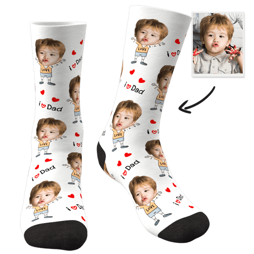Custom Face Socks To The Dearest Dad-MyFaceSocks
