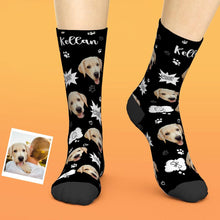 Custom Face Socks Add Pictures And Name Dog Woof