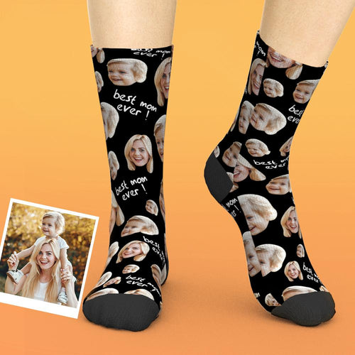 Custom Face Socks Gifts For Mother Best Mom Ever