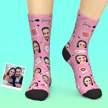 Custom Face Socks Add Pictures And Name - Love Stamp
