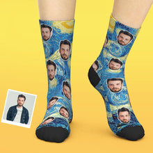Custom Face Socks Add Pictures And Name - Creative Oil Painting