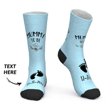 Custom Socks Custom Date Socks Baby Footprints