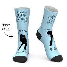 Custom Socks Custom Date Socks Save the Day Become A Mother