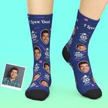 Custom Face Socks Add Pictures And Name Father's Day Gift - Best Dad Ever