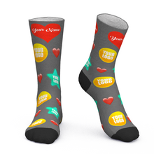 Custom Face Socks Add Logo And Name Personalized Gifts For Your Employees Heart