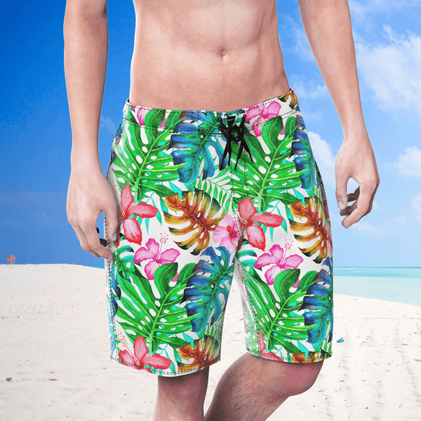 Men's swimming trunks beach leisure Pants In Nature Print