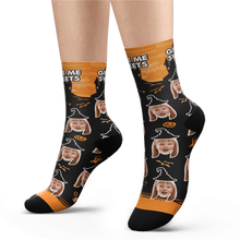 Custom Halloween Ghost Face Socks Add Pictures And Name