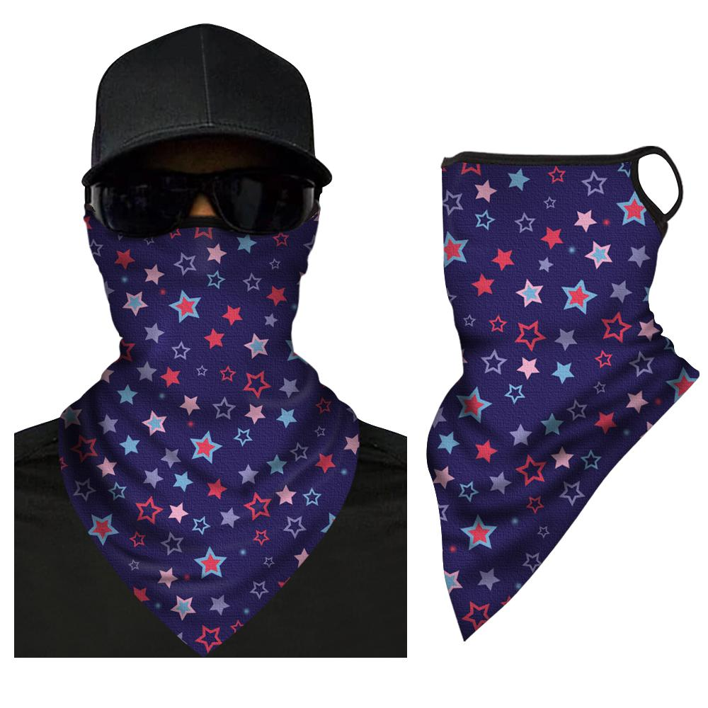 Neck Gaiter For Men and Women Star Scarf Very Comfortable Face Shield Breathable Quick Drying Reusable Washable Triangle Bandana   - Myfacesocks