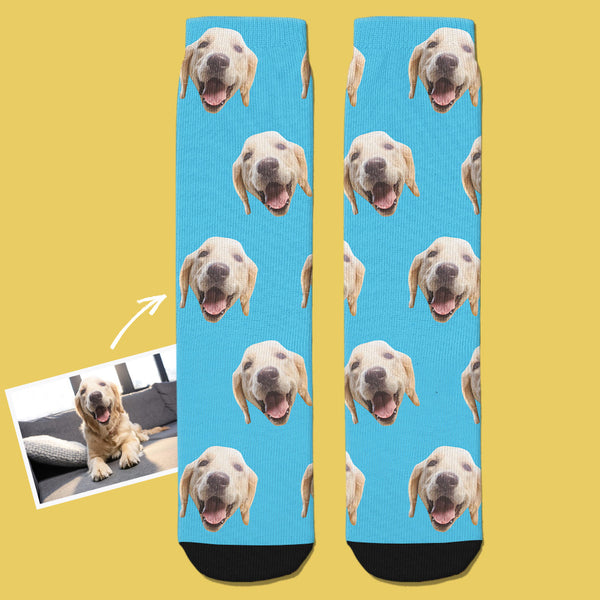 Custom Face Socks 3D Preview Add Pictures And Name Colorful