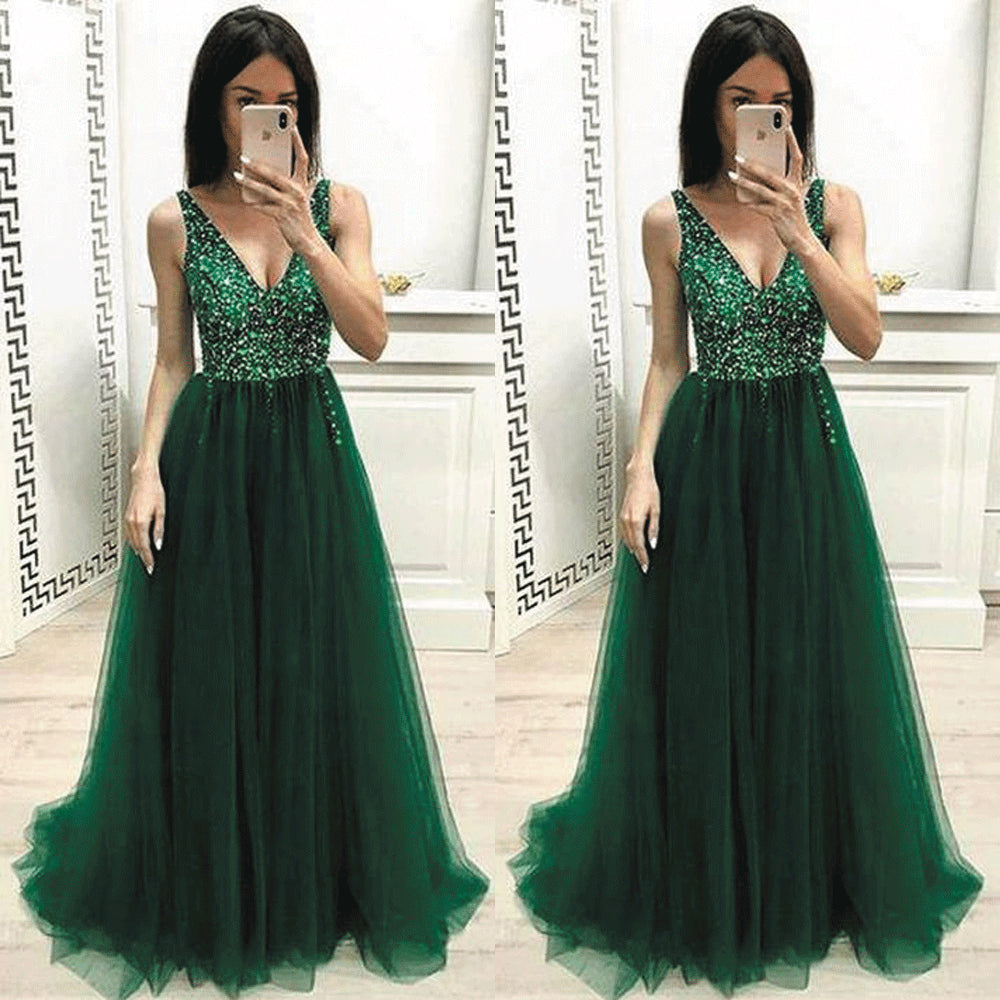 Elegant Green Gowns,Green Prom Outfits,Green Prom Dresses 2020,
