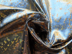 Gold bronze splatter foil lycra - In Stock