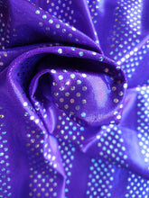 Load image into Gallery viewer, Purple silver foil lycra - In Stock