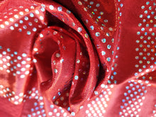 Load image into Gallery viewer, Red silver foil lycra - In Stock
