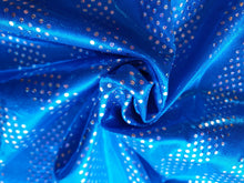 Load image into Gallery viewer, Blue silver foil lycra - In Stock